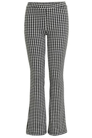 Keona flared pants | Black Pied de Poule