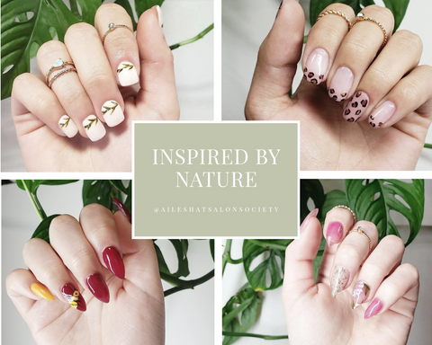 Nails inspired by nature graphic by Ailesh Abrams