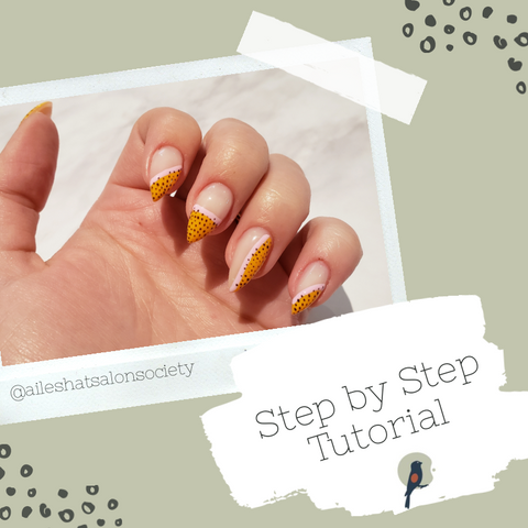 Nail art step by step guide graphic