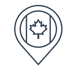Canadian location icon