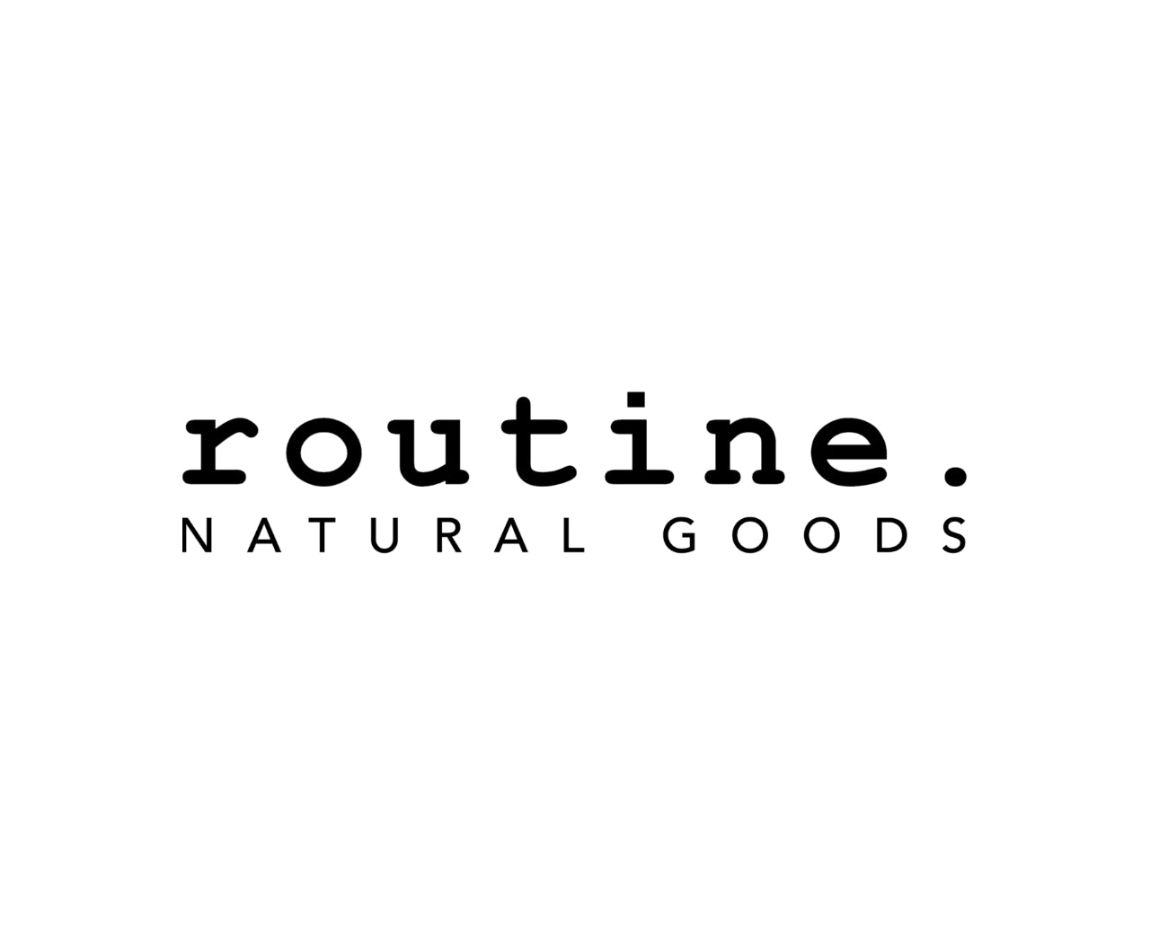 routine. natural goods logo