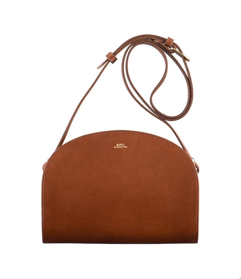 Half Moon bag noisette