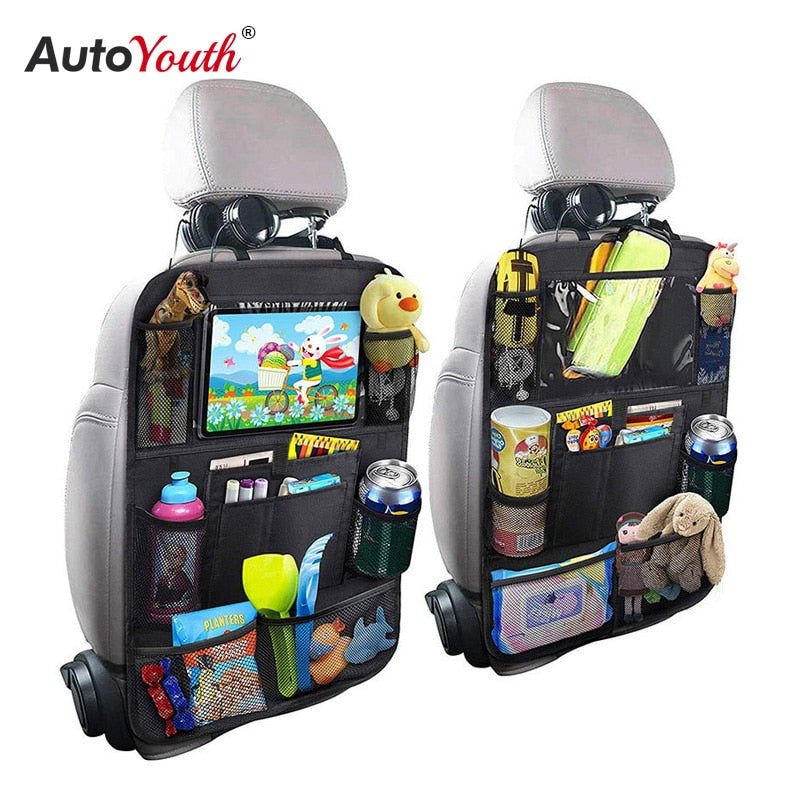 Car Backseat Organizer & Storage with Tablet Holder