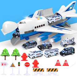 Children's Toy Aircraft: Music, Lights Simulation, Track