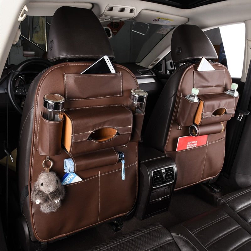 Hanging Back Seat Car Protector - Organizer, Multi-Pocket Storage.