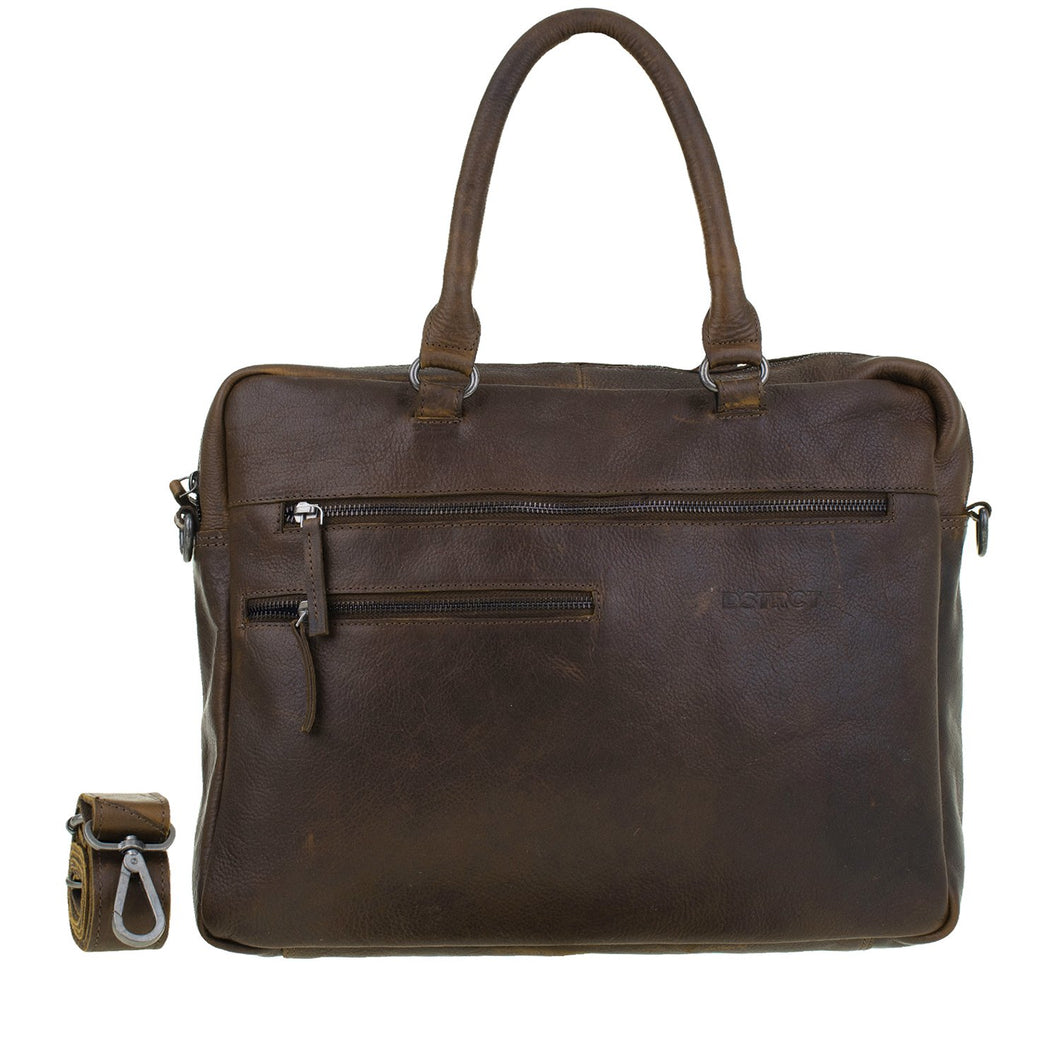 DSTRCT Laptoptas 15,6 inch RAIDER ROAD ARIZONA COGNAC