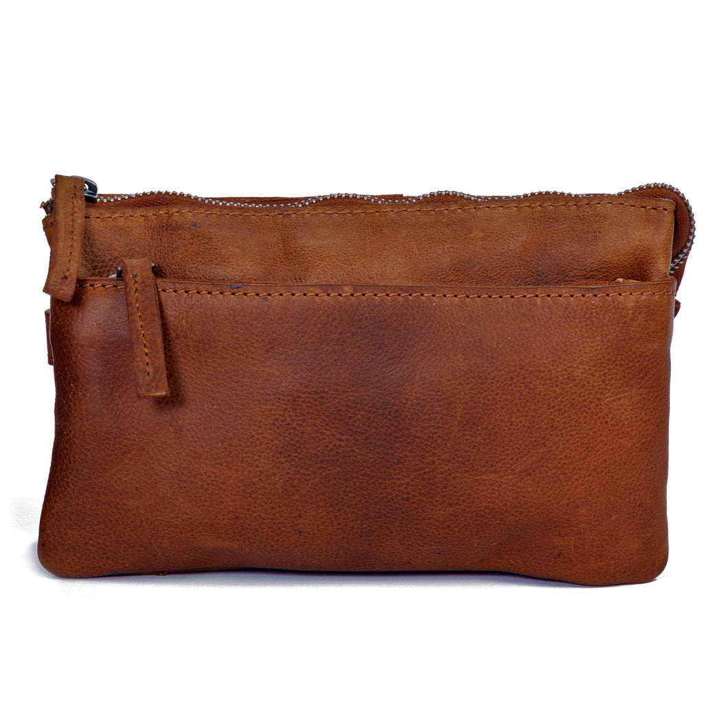 DSTRCT Clutch RAIDER ROAD Schoudertas COGNAC