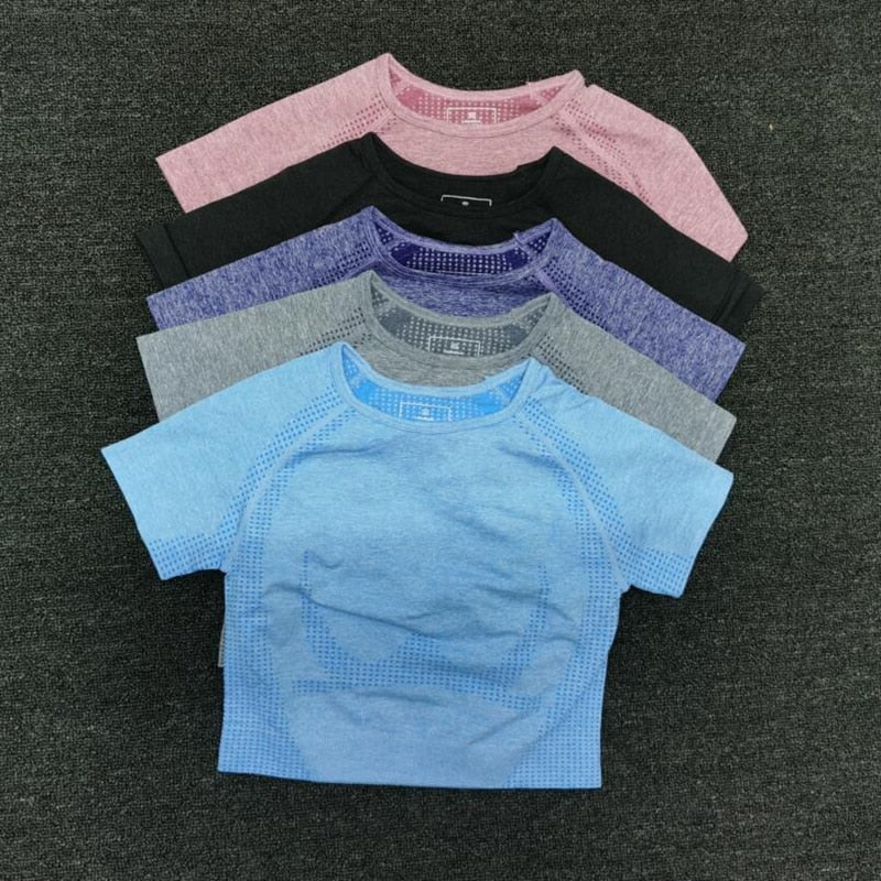 Trendy Seamless Yoga Shirt