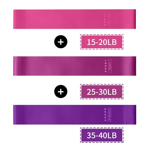 5 Piece Set Elastic Bands