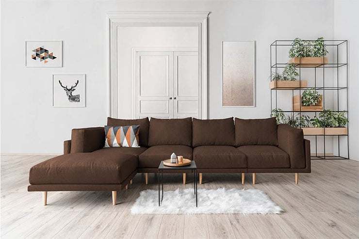 Modulares Sofa Donna in Samt XL mit Schlaffunktion - Anna Winterberg