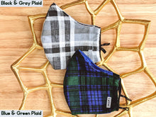 Load image into Gallery viewer, Flannel Plaid Masks