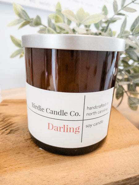 Darling | 9 oz Amber Glass Candle