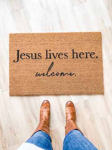 Doormat | Jesus Lives Here