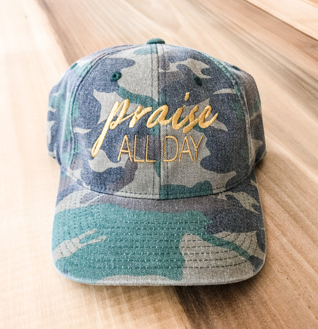 Praise All Day | Camo Flexfit Hat