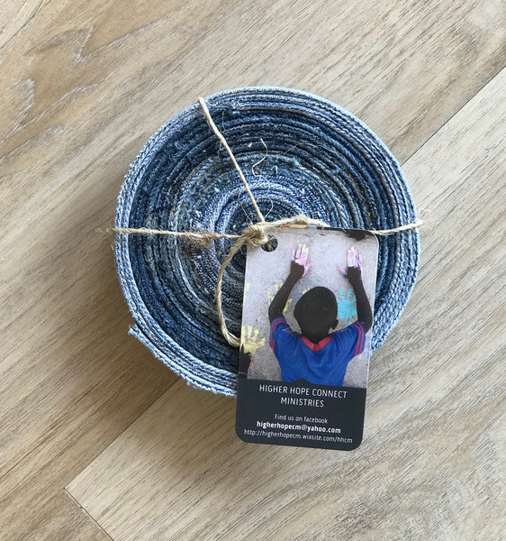 Denim Coaster Set of 2 | Hand made in Haiti