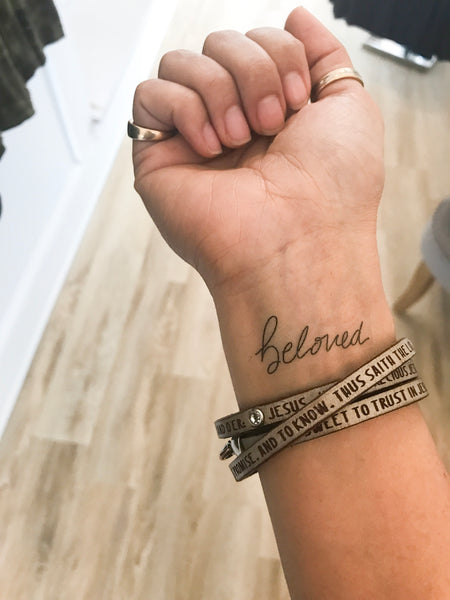 Words for a Season | Hand-lettered temporary tattoos