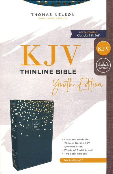 KJV, Thinline Bible Youth Edition, Leathersoft, Blue, Comfort Print