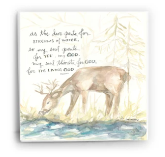 As the Deer...Psalm 42 | 6x6 Tile