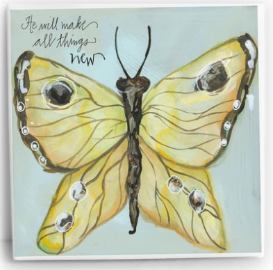 All Things New Butterfly | 6x6 Tile