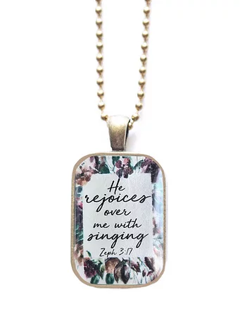 TVS Necklace | God Rejoices over me with singing