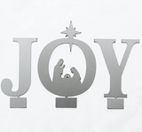 "9"" Metal Joy Nativity"