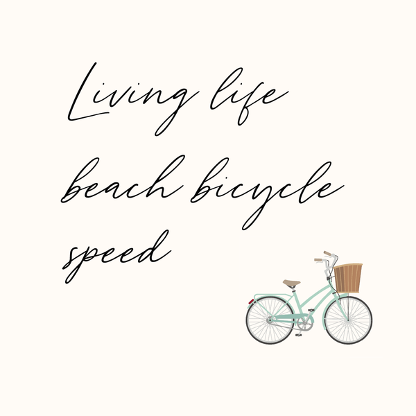 Living life beach bicycle speed | 8x8 canvas