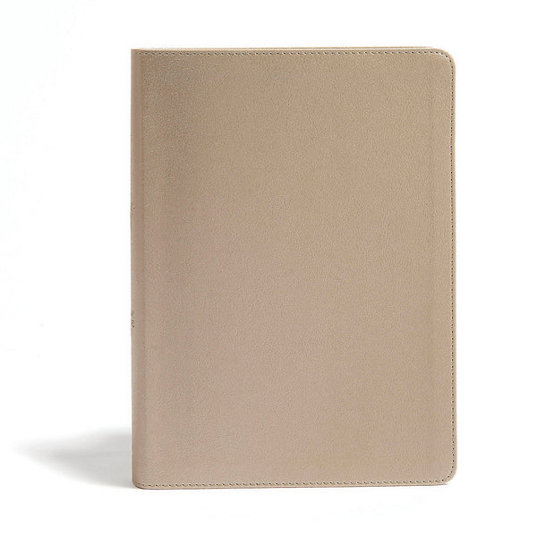 CSB She Reads Truth Bible | Champagne Gold, Leather touch with index tabs