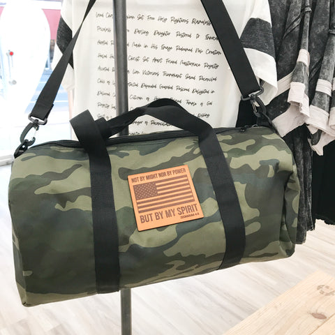 By My Spirit Camo Gym Bag