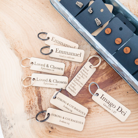 Wood Word Keychain