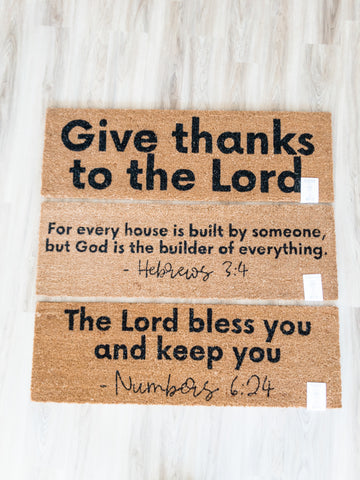 XL Scripture Doormat