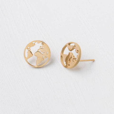 The Nations Gold Stud Earrings