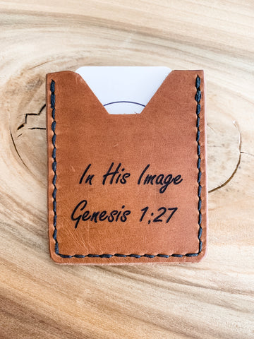 In His Image | single pocket men's wallet