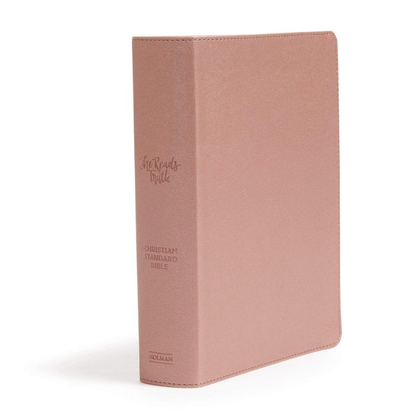 CSB She Reads Truth Bible | Rose Gold, Leather touch