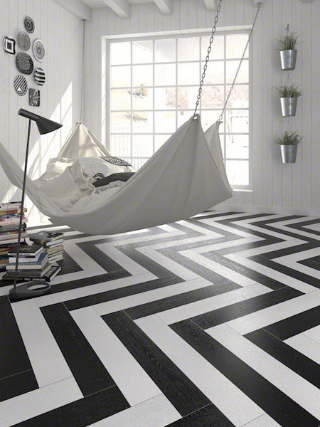 Black and White Wood Tiles