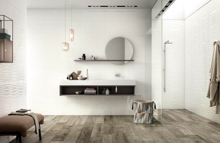 Classic Wetroom With Wood Tiles