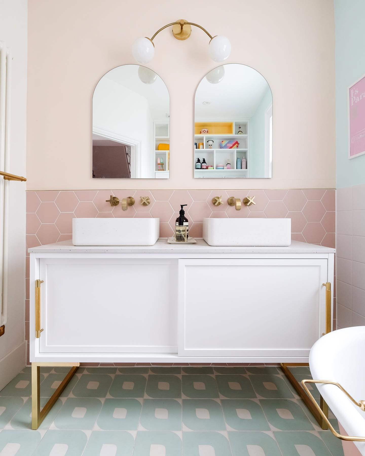 A pastel bathroom by Little Big Bell