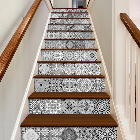 Moroccan Tiles Stairs