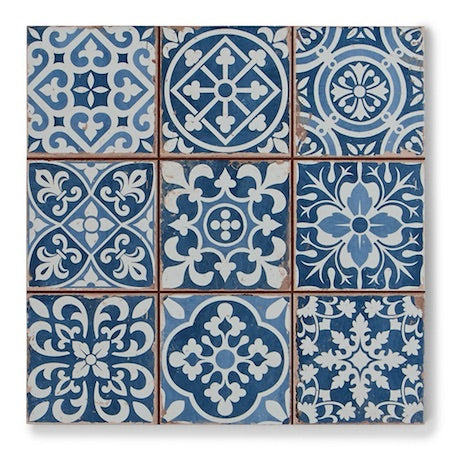 Moroccan Tiles - Tapestry Blue
