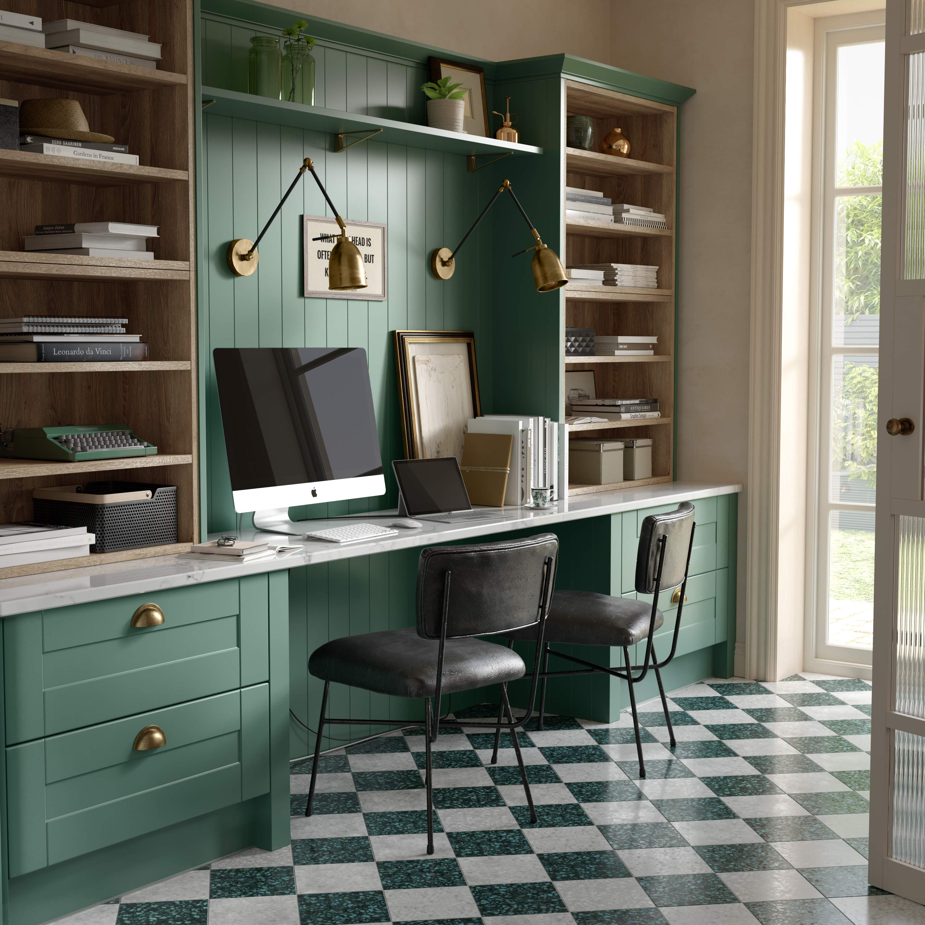Home Office In A Shaker Kitchen
