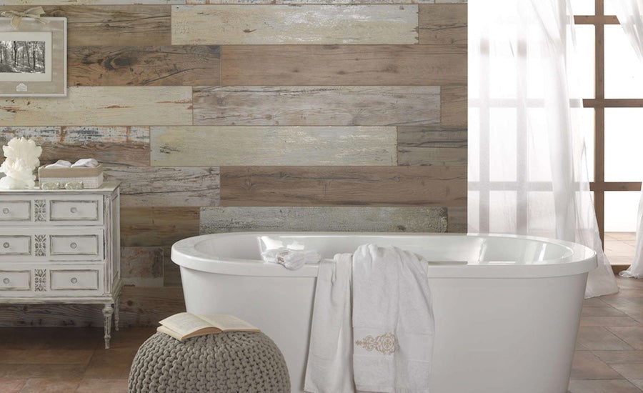 Wood Tiles Feature Wall
