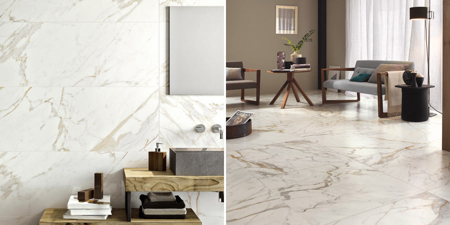 Use Porcelain Tiles On Walls and Floors