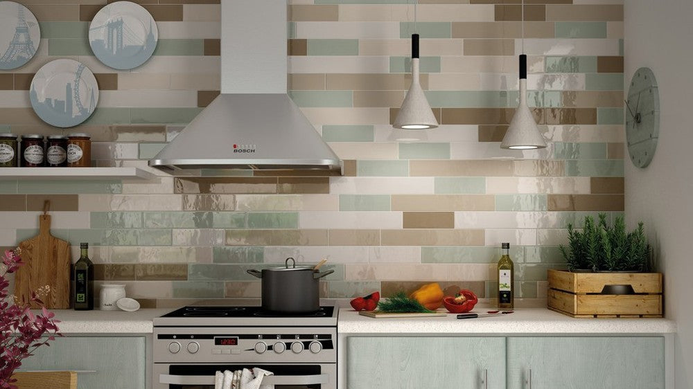 Mix and Match tiles to create eye-catching feature walls