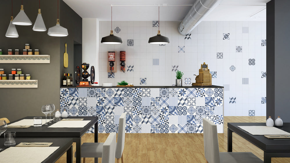 Feature walls and patchwork tiles