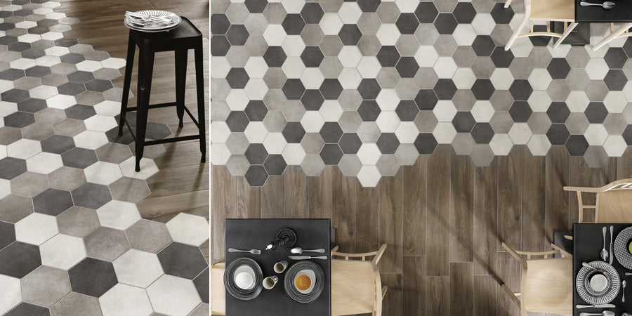 Mixing Wood Tiles With Hexagons