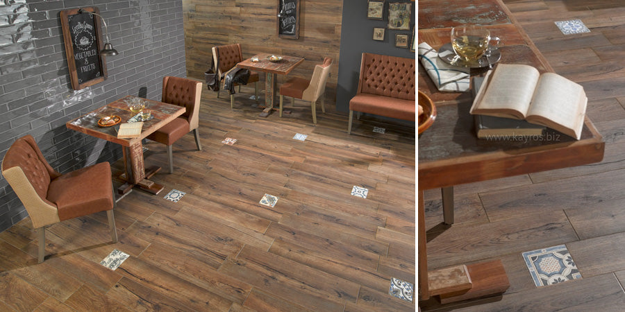 Mixing Wood Tiles With Patterned Tiles
