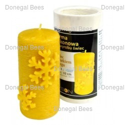 Cylinder with Snow Flakes Candle Mould