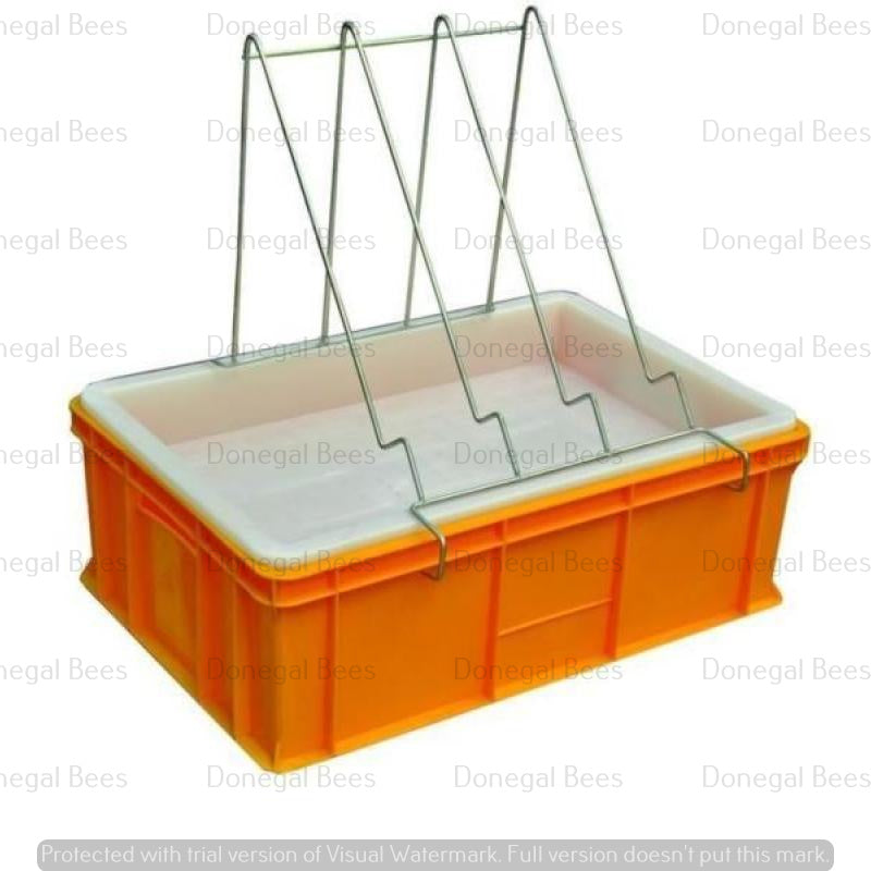 Plastic Uncapping Tray with Plastic Strainer (depth 200mm)