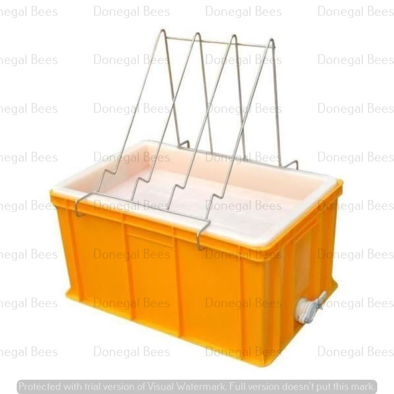 Plastic Uncapping tray with plastic Strainer (Large) (depth 300mm)