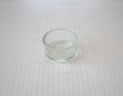 Glass Holder for Beeswax Tea-light Candle