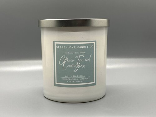 Green Tea and Lemongrass - 8 oz. candle